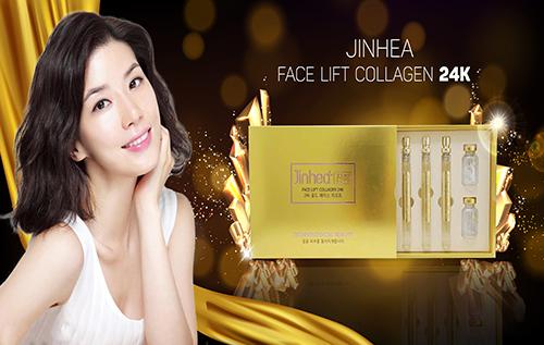 chăm sóc da ngăn ngừa lão hóa Jinhea Face Lift Collagen 24K